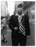 Veteran with a flag, N.Y.C