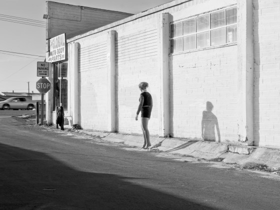 Inessa Waits Near South 9th Street, Modesto, CA, 2012, pigment print