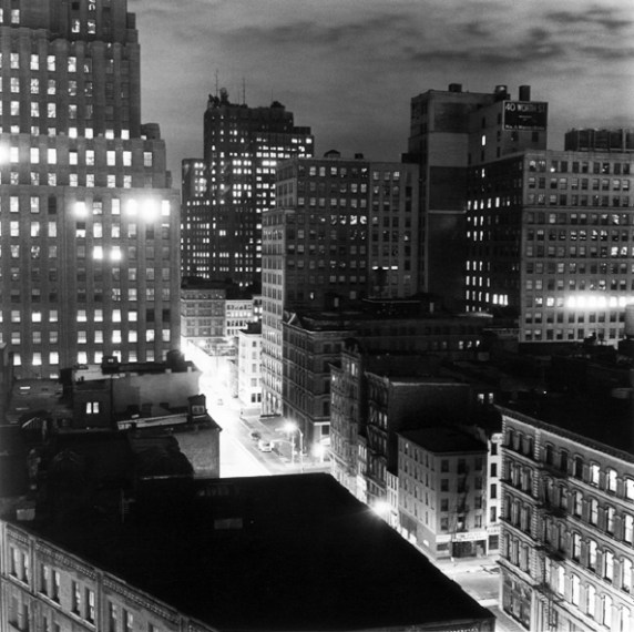 Night, Downtown, 1976 / printed later, pigment print