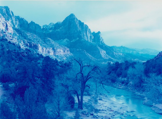 David Benjamin Sherry, Winter Storm, Zion Canyon, Utah, 2013, Traditional color darkroom photograph