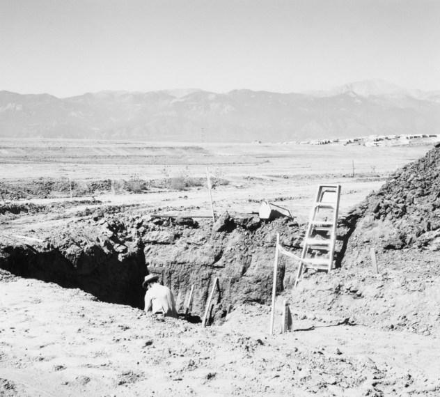 Basement for a tract house, Colorado Springs, 1969, gelatin-silver print