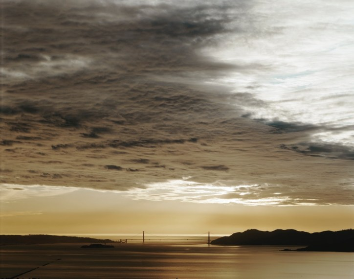 Golden Gate Bridge, 2.13.01, 5:32pm, 2001, pigment print