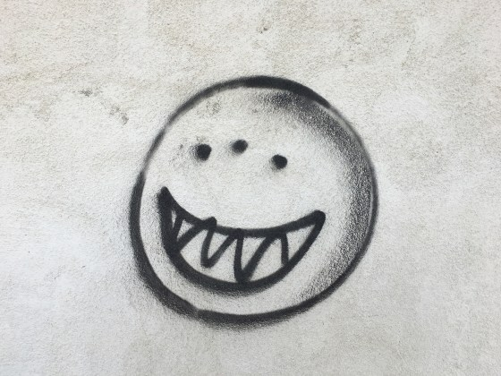Sinister smiley face, Hinkley, California, 2017