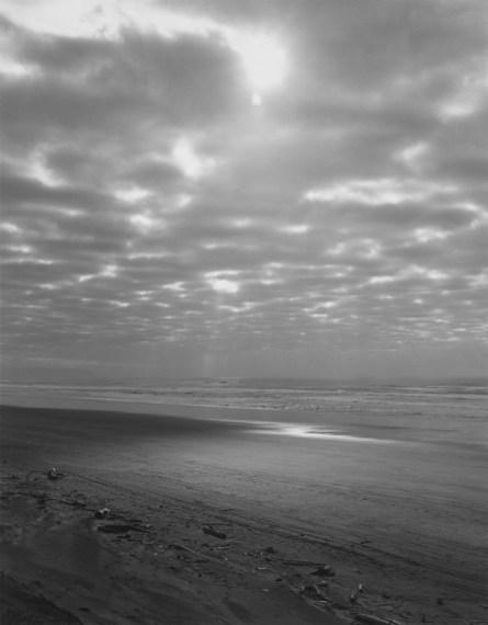 Clatsop Beach, Oregon, 1992, gelatin-silver print