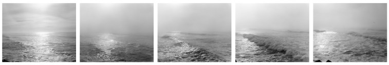 Southwest from the South Jetty,  Clatsop County, Oregon, 1991, five gelatin-silver prints
