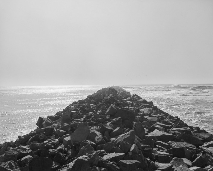 Directly out the North Jetty, on the Washington coast, 1992, gelatin-silver print