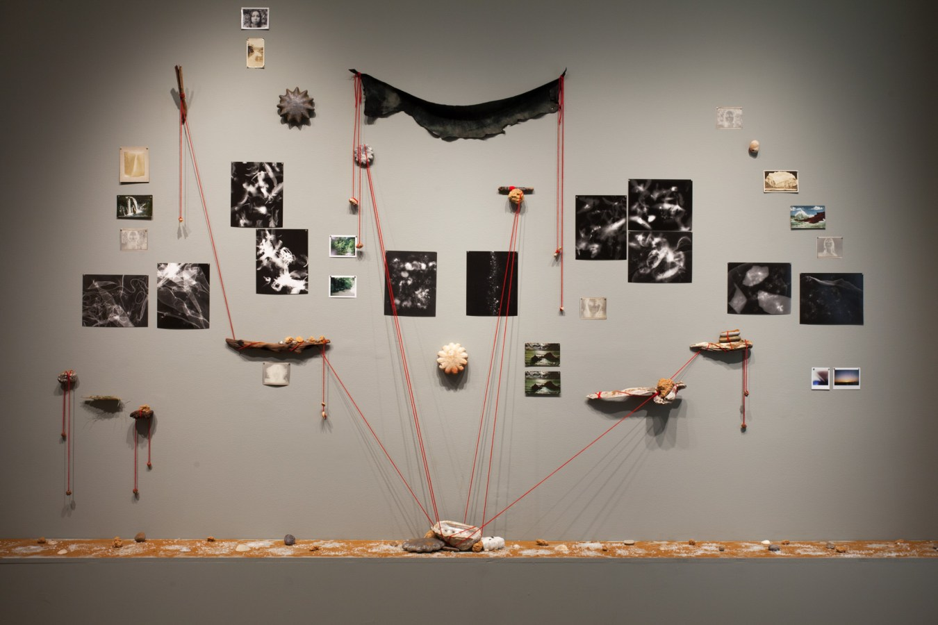 View of a mixed-media installation