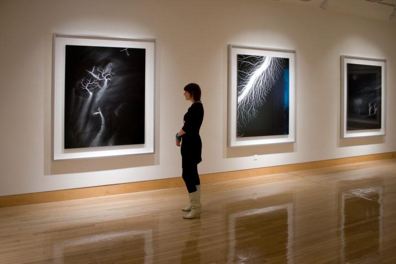 Installation view of Hiroshi Sugimoto: Lightning Fields, 2009