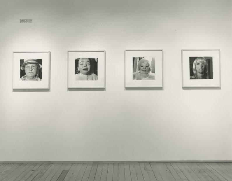 Diane Arbus, Nineteen Faces, installation view