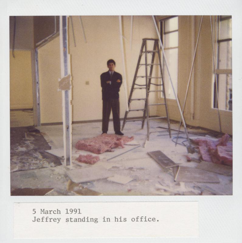 Construction begins at Fraenkel Gallery's 49 Geary Street location, 1991