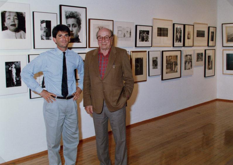 Jeffrey Fraenkel and Harry Callahan in 1986