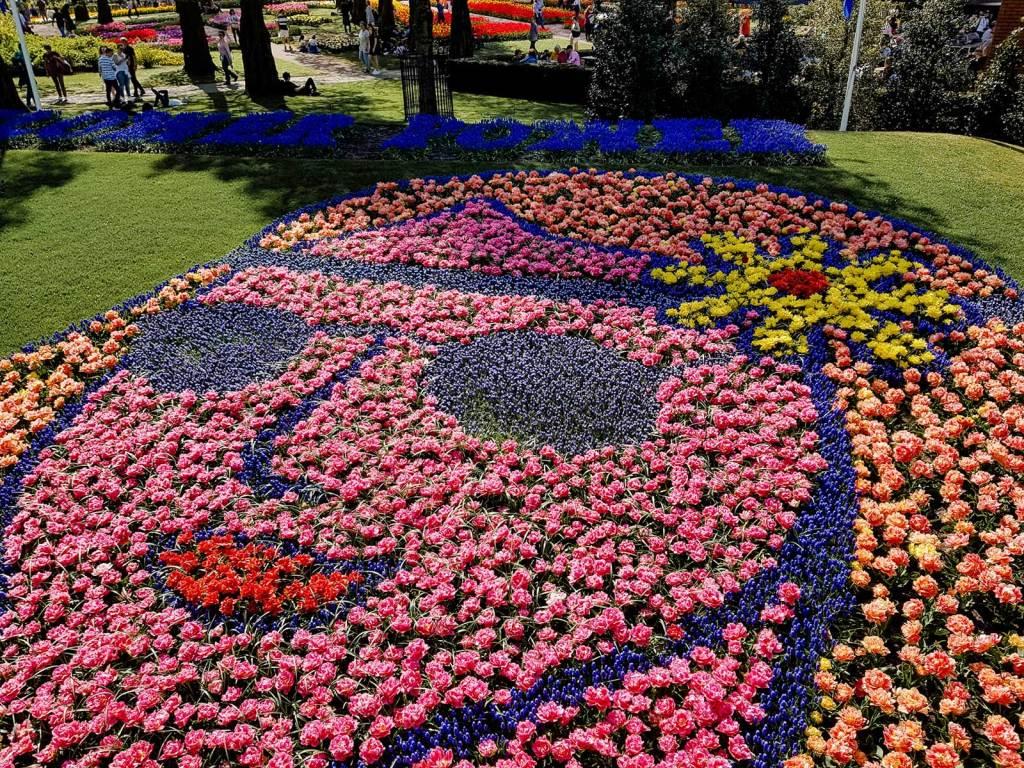 Tulpenmosaik Flower Power Happy Birthday Keukenhof