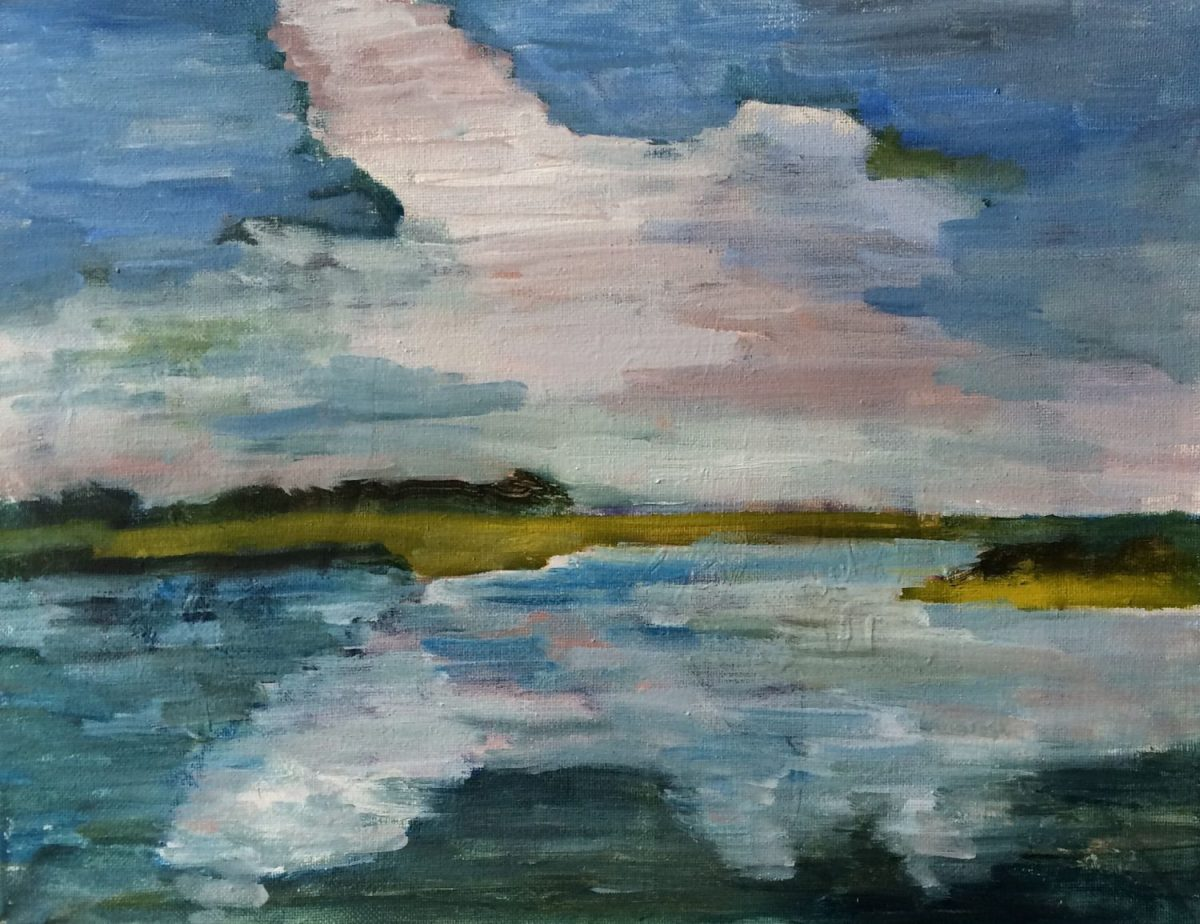 Garland Mattox, Clouds on Carrot Island, 2018