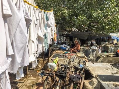 Indie Bombaj pralnia Dhobi Ghat