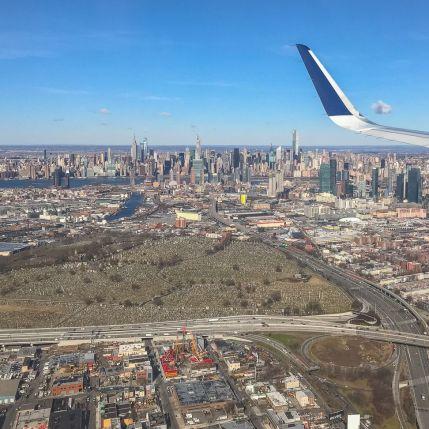 003 Nowy Jork z samolotu