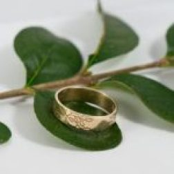 Sarah Jane Egan 72 Yellow Gold Oak Wedding Ring