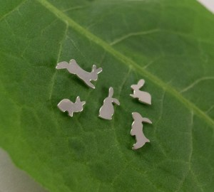 bunny earrings small