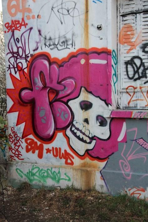 graffiti Dijon crâne - SMUWS