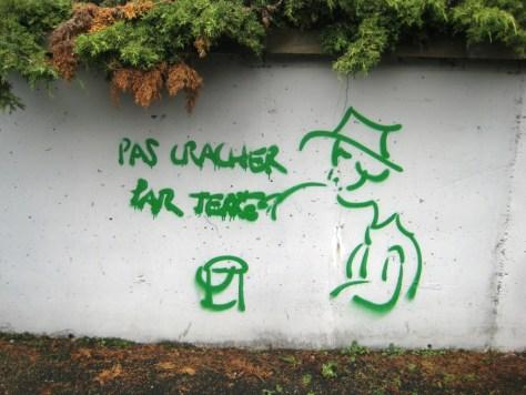 strasbourg 03.12.12 pas cracher par terre - graff
