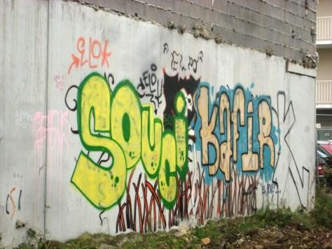 strasbourg 03.12.12 - souci, kafir - graffiti