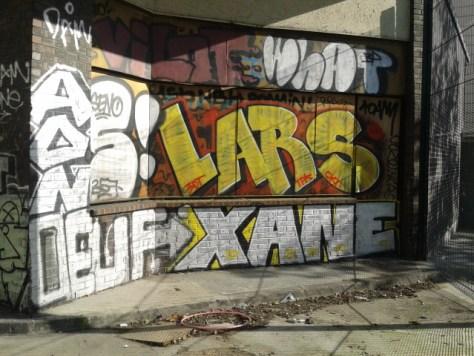 2013-08-20 Xane, Lars, ADN, Oeuf,what graffiti paris X