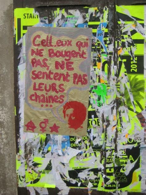 besancon 24.12.12 affiche, cell.eux qui ne bougent pas ne sentent pas leurs chaines