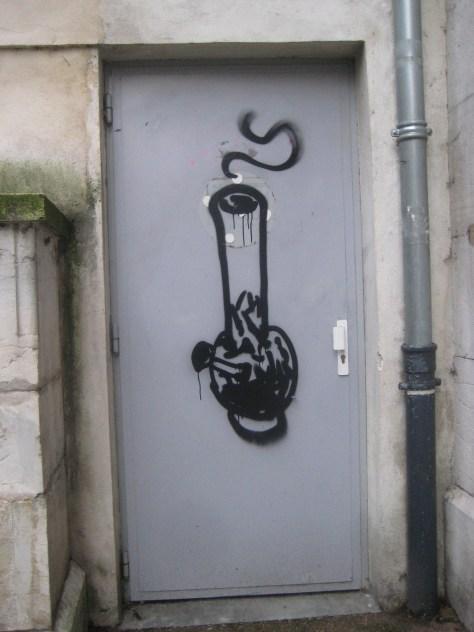 wanna smoke - graffiti- besancon - janv 2014