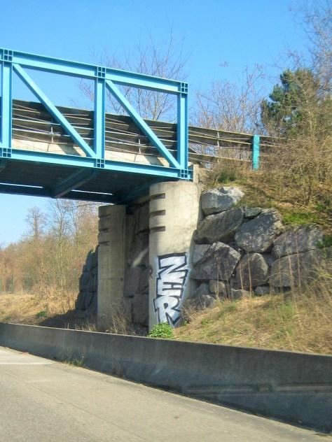 ZER - graffiti- A35 - Alsace - mars 2014