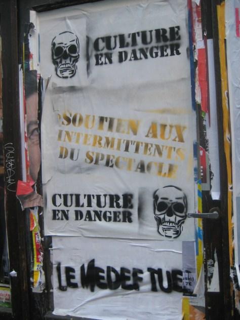 besancon - mars 2014 - soutien aux intermittents, culture en danger, le medef tue