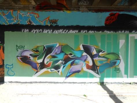 Mesh, Wyker - graffiti - besancon, arenes - avril 2014 (2)