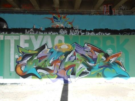 Mesh, Wyker - graffiti - besancon, arenes - avril 2014 (3)