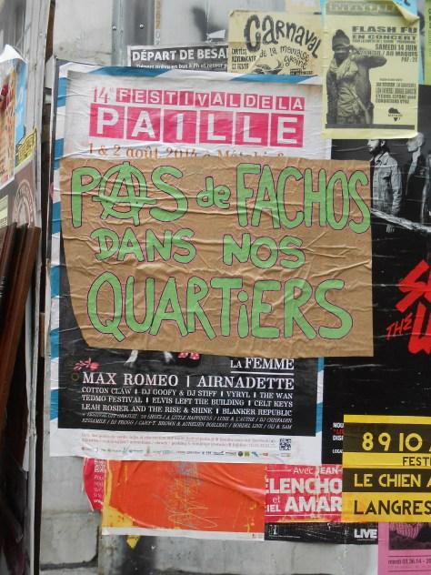besancon, juin 2014 pas de fachos dans nos quartiers