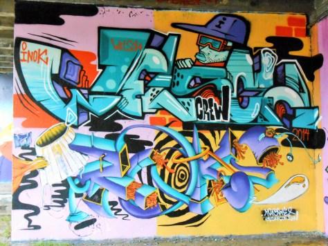 besancon, jam graffiti octobre 2014 INOK, TROKE