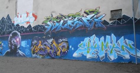 wask, robea, senz, shaman - graffiti besancon 2015