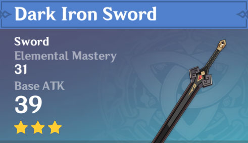Dark Iron Sword