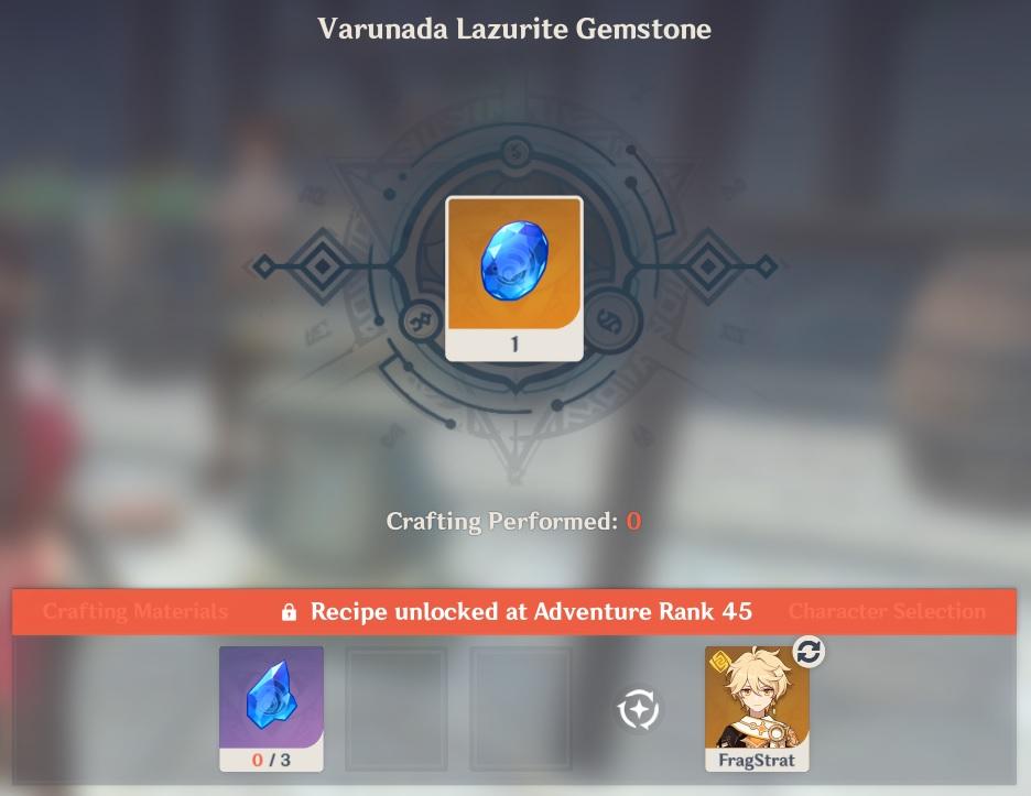Varunada Lazurite Gemstone crafting