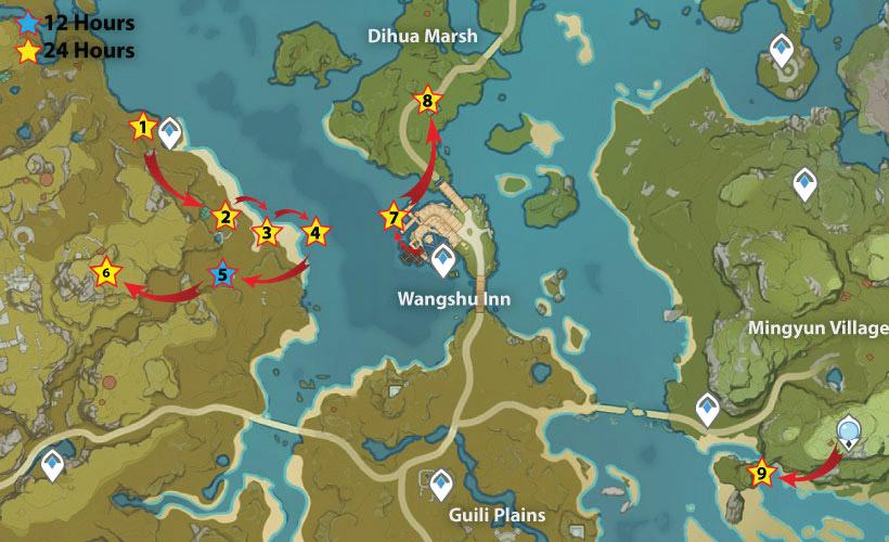 Wangshu Inn artifact Route