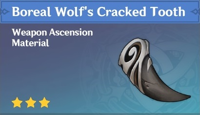 Boreal Wolfs Cracked Tooth