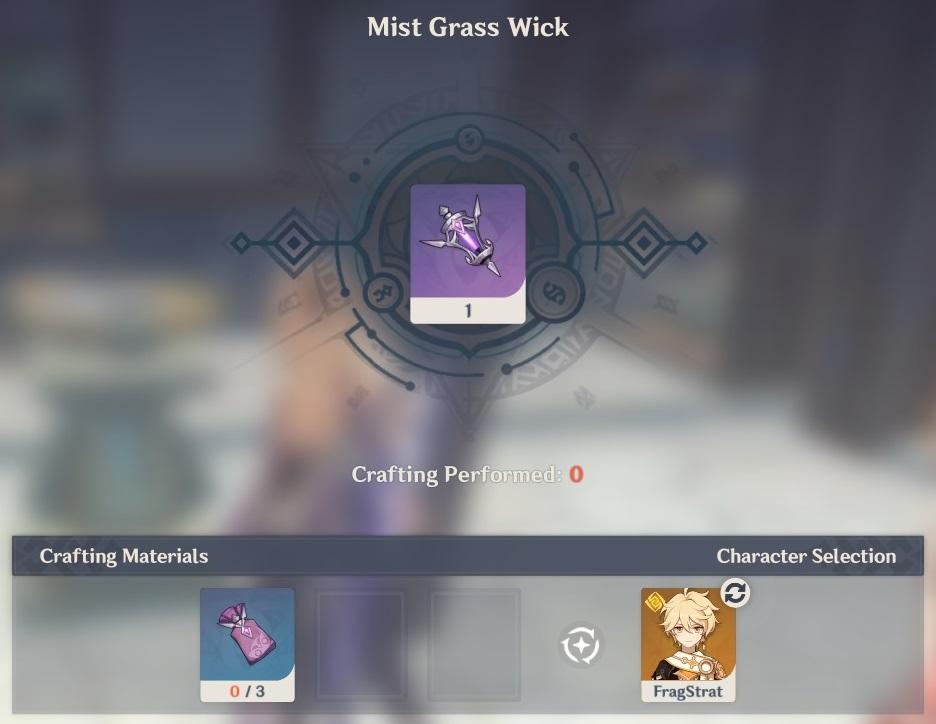 mist grass wick crafting