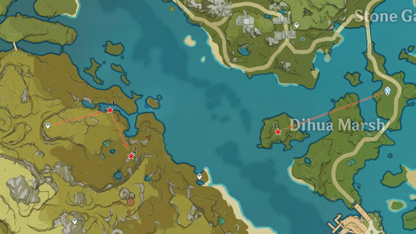 Dihua Marsh White Iron Farm Route