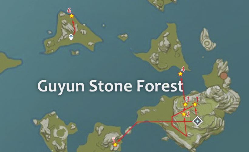 guyun stone forest cor lapis-location