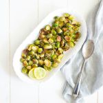 Roasted Lemon Parmesan Brussels Sprouts