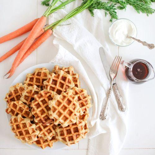 Carrot Cake Pancakes or Waffles