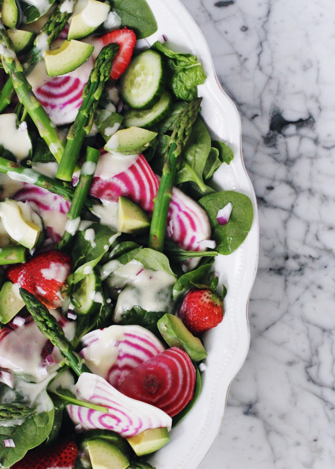 Spring Chopped Salad with Creamy French Dressing