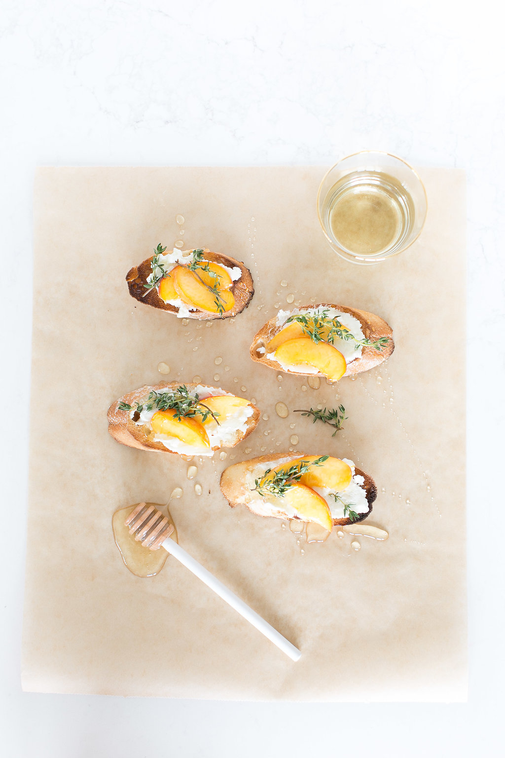 This Peach Chèvre Crostini is a perfect pair for a Sandhill wine