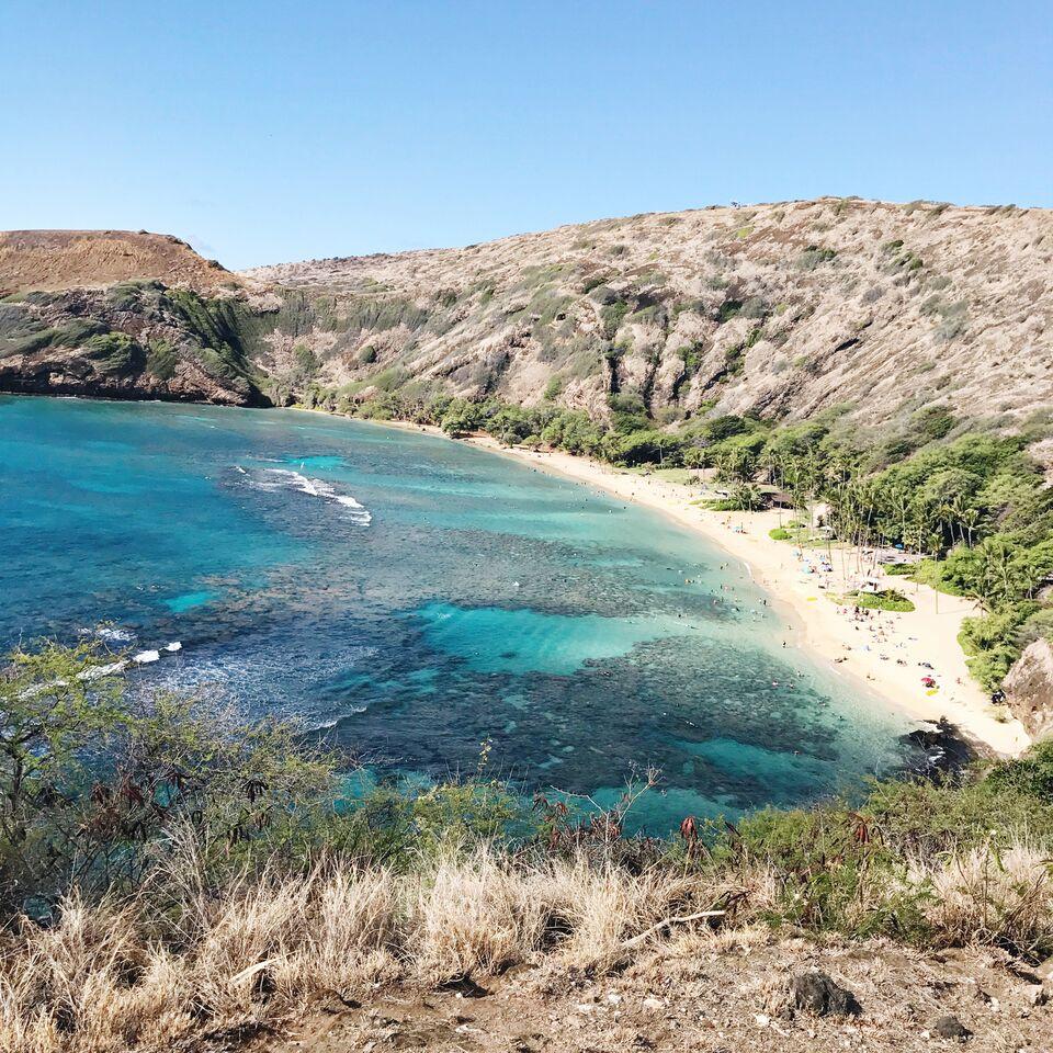 Hanama Bay in O'ahu