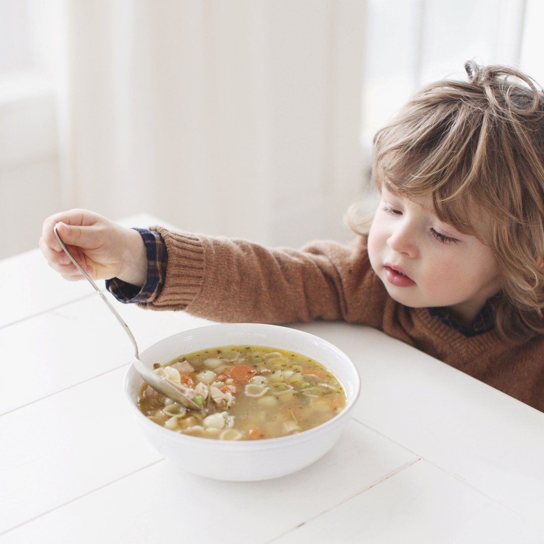 Turkey Soup that uses up leftover turkey and veggies: healthy, kids love it (so yummy) and helps minimize food waste!