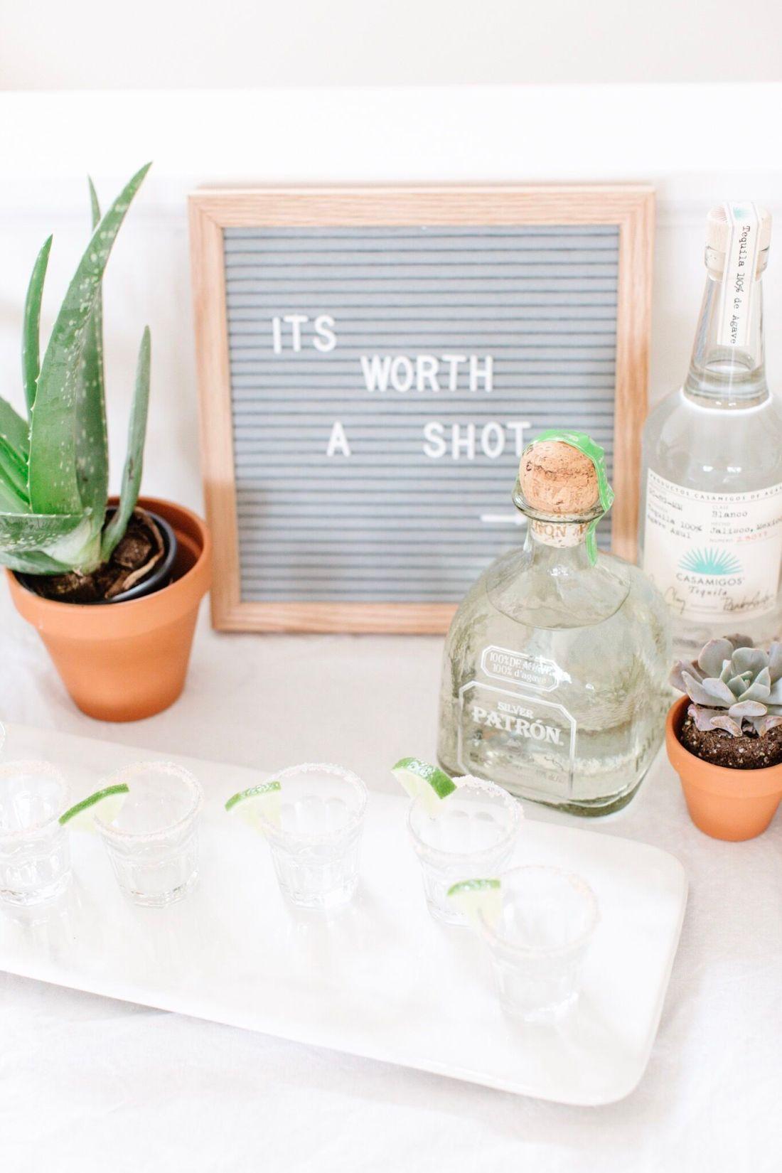 Tequila bar tutorial for Cinco de Mayo