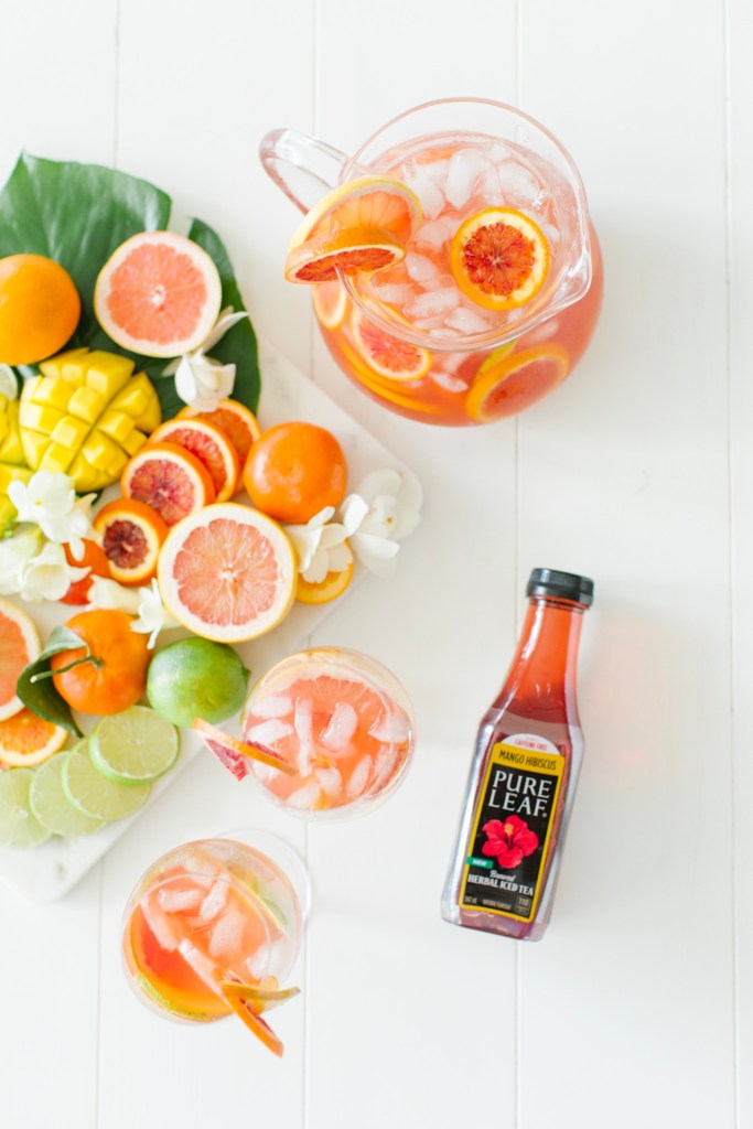 Tropical White Wine Hibiscus Sangria