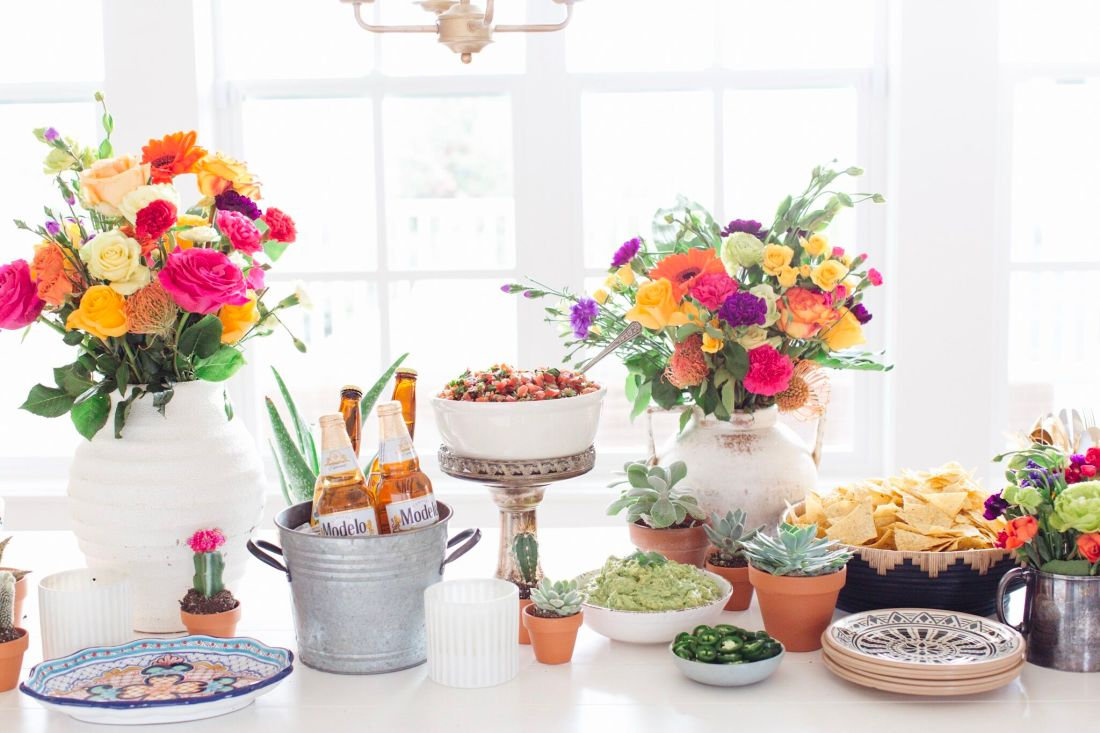 Cinco de Mayo Fraiche Table complete with a workback schedule, grocery list, menu, table setting inspiration and a tequila bar!